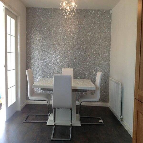 Free Shipping glitter wallpaper for house decoration glitter ...