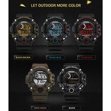 30 m A Prueba de Agua Digita Fecha LED de Alarma Luminosa Cronómetro Deporte Militar Reloj de Los Hombres