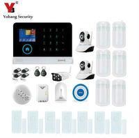 Yobang безопасности WI FI приложение Управление безопасности системы сигнализации дома с Открытый IP Камера сигнализации Наборы дыма/Газа/Стекл