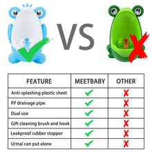 Baby Boy Potty Toilet Training Frog Children Stand Vertical Urinal Boys Pee Infant Toddler Wall-Moun children potty toilet