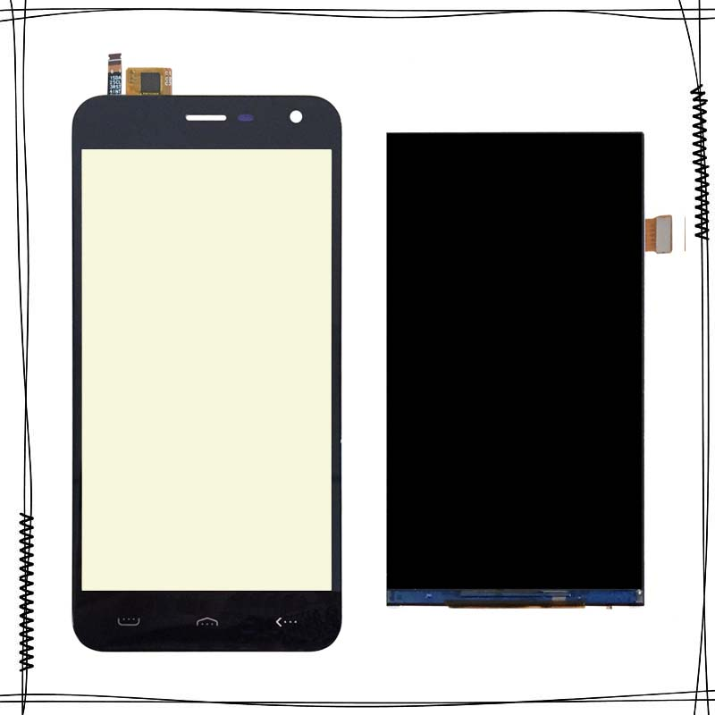 Black For Homtom HT3 LCD Display+Touch Screen Digitizer for ht3 FPC 501513 A LCD Glass Panel