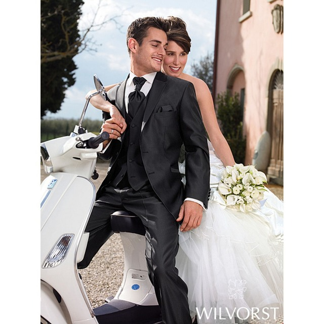 New Men Wedding Prom Clothing Tuxedos Bride groom Suit Item Jacket+vest+pants Groom Wear Suits