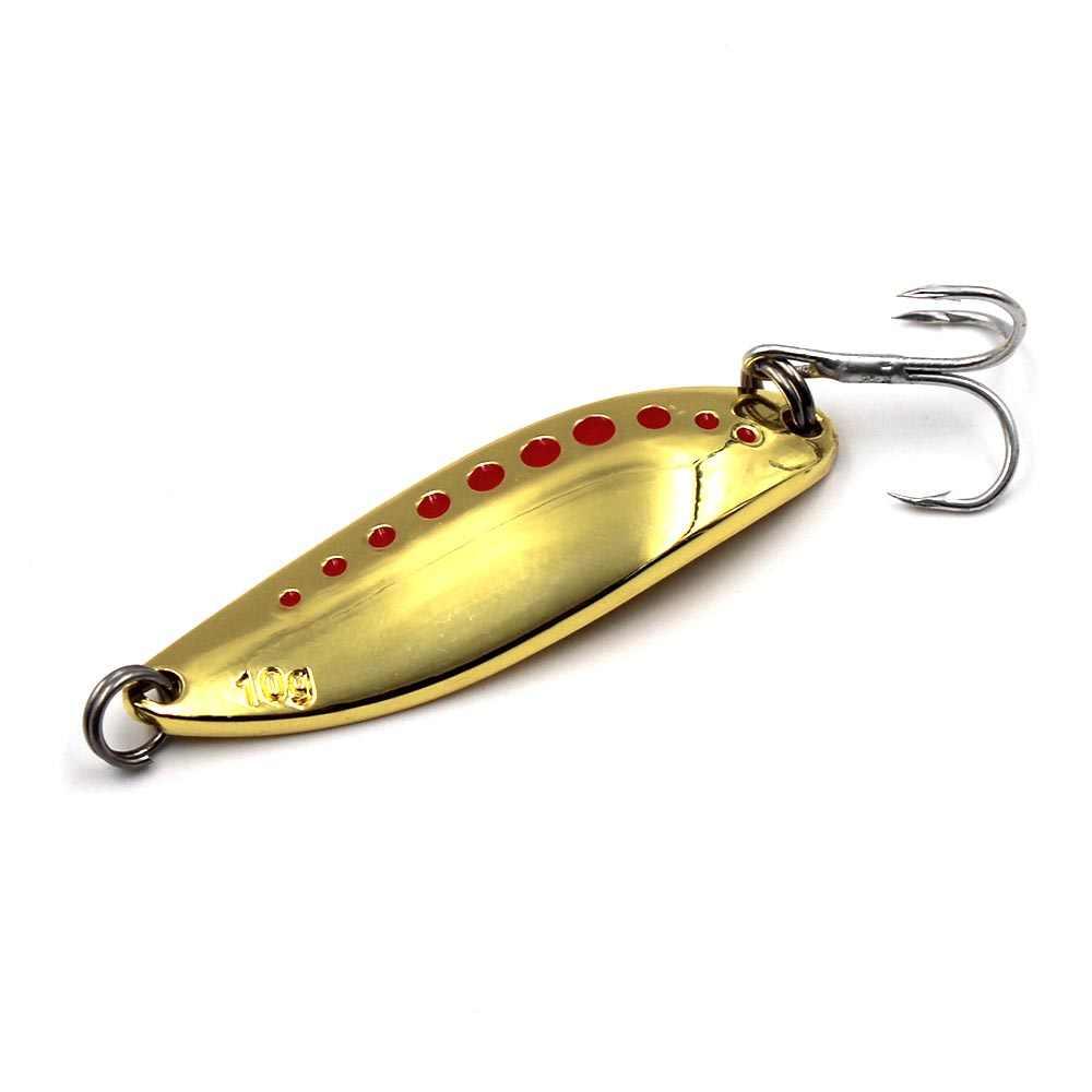 1 cái Spinner Bait Kim Loại Mồi Cá Chép Mồi 4.5 cm-5.5 cm Cá Chép Pike Trout Mồi Nhân Tạo Cá Lure Hooks đúc Muỗng cho Pesca Giải Quyết