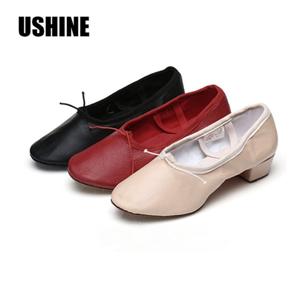Red Pink Black PU Flat Ballet Dance Shoes Yoga Shoes Indoor Exercising Shoes Zapatos De Baile Latino Mujer
