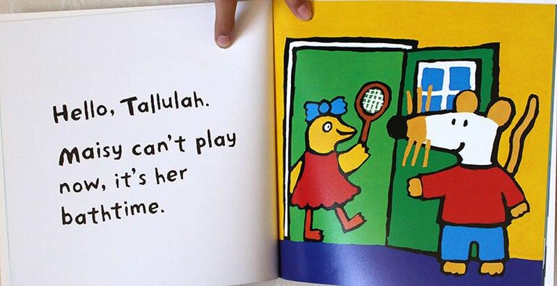 12 livres/Set Maisy Sac De Natation Vague Souris Souris Anglais Livre D'images Livre D'histoire Pour Enfants Sticker Book Enfants Jeux IQ EQ Formation - 4