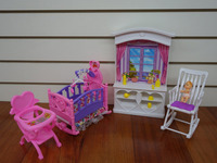 New Baby Room Play Set Doll Size Dollhouse Furniture For Barbie Doll Perfect Children Toy Gift