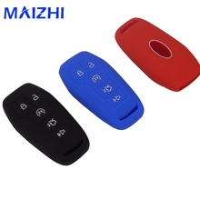 hot deal buy 2 button silicone remote car key case cover for ford explorer fusion mustang f150 for lincoln mkz mkc smart key `car-styling
