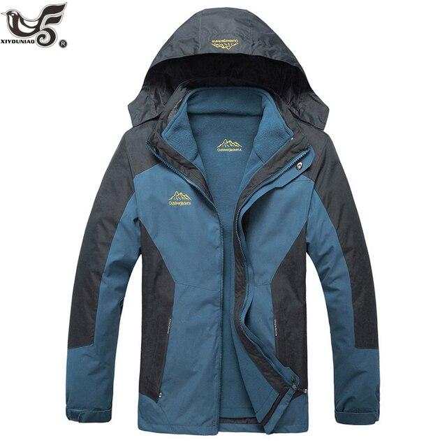Big Promo XIYOUNIAO new plus size L~7XL 8XL Winter Jacket Men Warm Coat Thermal Windproof Hood Jackets Mens 2 in 1 Outwear Parka coats set