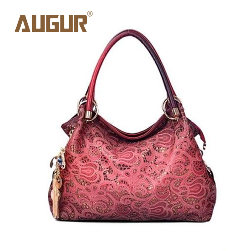 AUGUR Brand New Fashion Hollow Out Retro Carved Handbag Luxury Handbags Women Ba