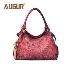 Augur marca nueva manera ahueca hacia fuera retro tallado bolso de lujo bolsos mujer bolsos diseñador crossbody bolsos para mujeres bg5016