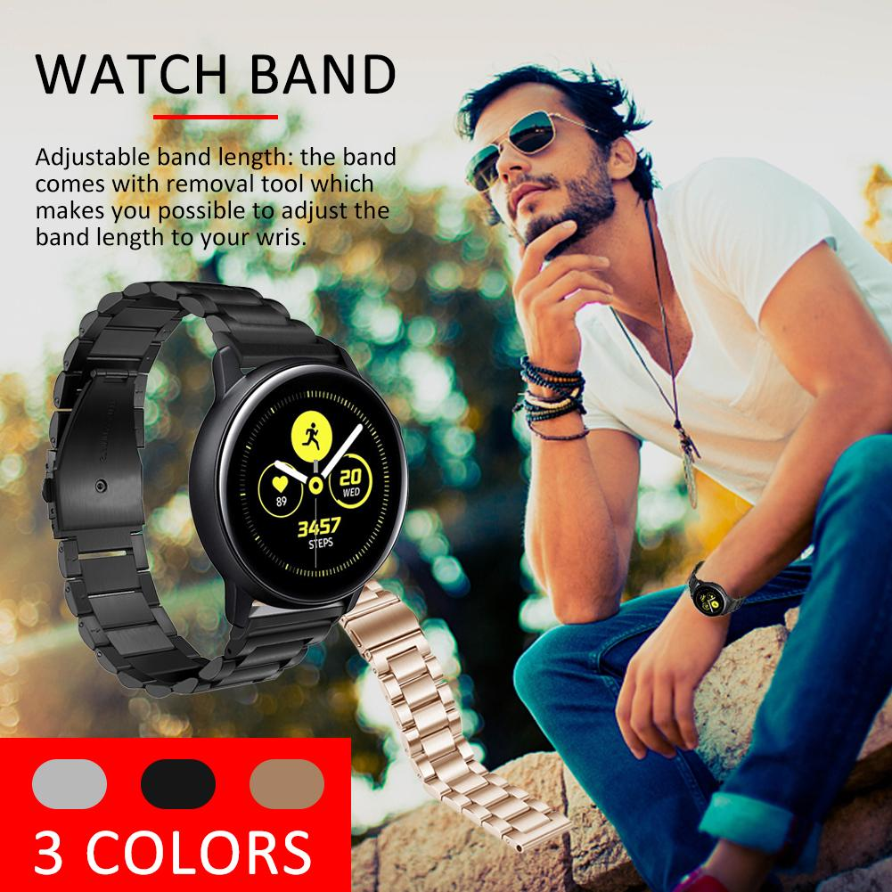 Image 5 - New 20mm Quick Release Stainless Steel Metal Bands Replacement Strap Compatible For Samsung Galaxy Watch Active Bands-in Smart Accessories from Consumer Electronics