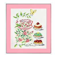 Fishxx cross-stitch A879 cartoon Cake and coffee cup food 100% accurate pattern 11CT