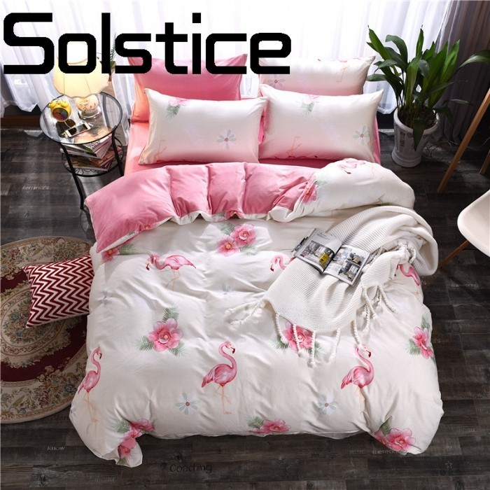 Solstice Home Textile Simple and comfortable moisture breathable cotton activity printed bedding sheets bed linen pillowcase