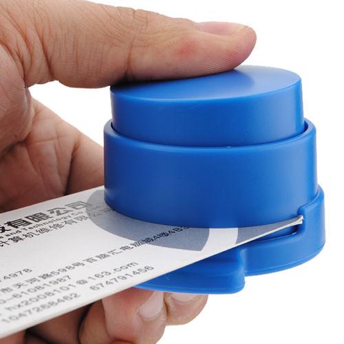 Home Staple Free Stapleless Stapler Paper Binding Binder Paperclip Student Office Stationery