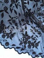Chaep Black Milk Silk Water Soluble Embroidery Lace Clothing Accessories Bridal Fabric High Quality Organza Embroidered
