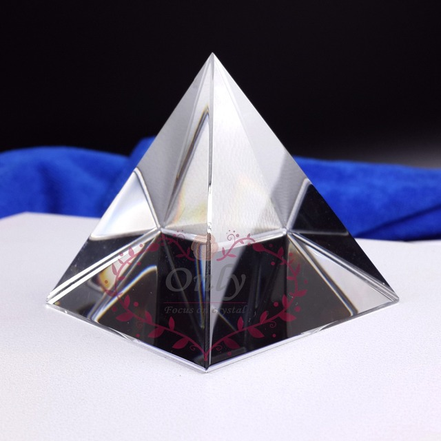 Free Shipping Big Size  150mm Nature Clear Quartz Crystal Pyramid Home Bar Store Fengshui Table decoration
