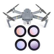 Drone Camera Lens Filter 4pcs Graduate Color Anodized Lens Filter Accessory for DJI Mavic Pro Drone