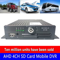 Factory wholesale supply AHD 4CH SD card Mobile DVR NTSC/PAL system support depth docking seismic wide voltage bus monitoring