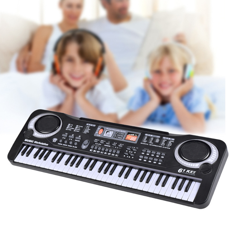 все цены на 61 Keys Digital Music Electronic Keyboard Gift Electric Piano Educational Toys Professional Musical Instruments онлайн