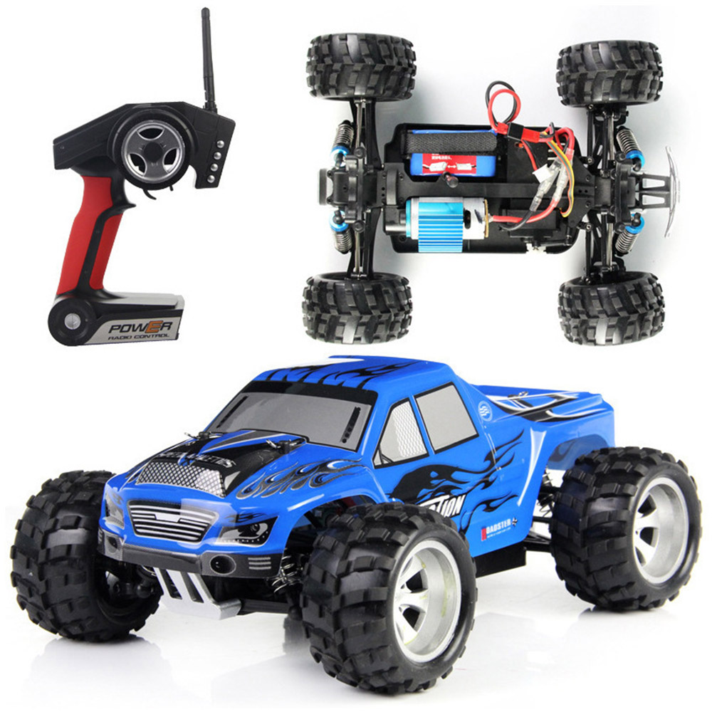 WLtoys A979 High Speed Toys RC Car 1/18 2.4G 4WD Waterproof Damper RC Desert Remote Control Buggy Truck new 7 2v 16v 320a high voltage esc brushed speed controller rc car truck buggy boat hot selling
