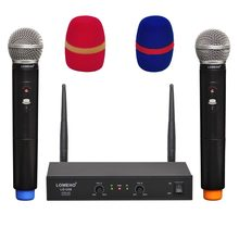 LOMEHO-micrófono inalámbrico de 2 vías, LO-U30 UHF 2, portátil, para Karaoke, iglesia, Fiesta de Dj