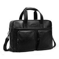 BOSTANTEN Cow Genuine Leather Business Briefcases Men bags 17 Laptop Handbag for Men Tote Crossbody bags Shoulder Men's Bag