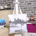 Free Shipping Cotton Portable Shopping Bags White Women Handbags Shoulder Bags Shopping Bag SGJM070