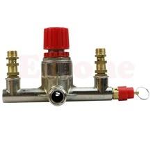 OOTDTY цинковый сплав Воздушный компрессор двойной выходной трубки регулятор давления клапан подходят части