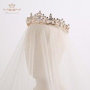 Image 5 - แฟชั่นเจ้าสาวคริสตัล Tiaras Crowns ทอง Headpieces Rhinestone อุปกรณ์เสริมผมงานแต่งงาน Evening เครื่องประดับผม
