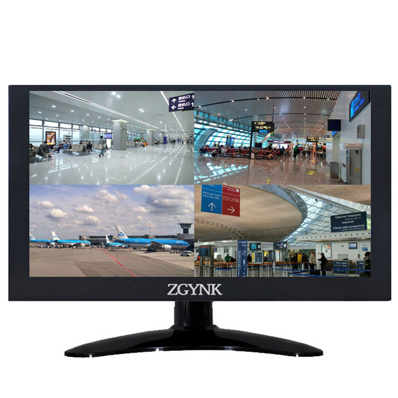Zgynk / 11.6/12 inch four - screen, four camera industrial monitor / metal display, VGA BNC1 BNC2 BNC3 BNC4 display nvs440 256m pci e professional graphics four screen multi screen display 100