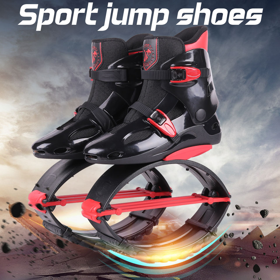 Adults Sneakers Jumping Boots kangaroo jumping Shoes Bounce Sports Jumps Shoes Size 19/20 tartan