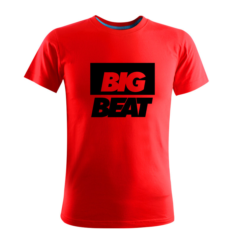 US $19 0 |Big Beat Records Music Festival Band World Fashion Cheap High  Quality Casual Pure Color T shirt Short Sleeve Men Slim Asia Size on