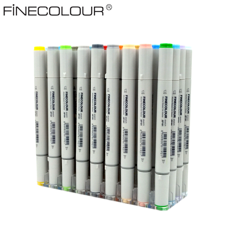 Sketch Color Marker Pen Finecolour Architecture Alcohol Based Art Markers 36 48 60 72 Colors set Manga Marker For Drawing finecolour ef101 alcohol based art sketch twin marker brush non toxic markers for school supplies 24 36 48 72 color set in bag