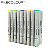 Skizze Farbe Filzstift Finecolour Architektur Alkohol Based Art Marker 36 48 60 72 Farben set Manga Marker Für Zeichnung