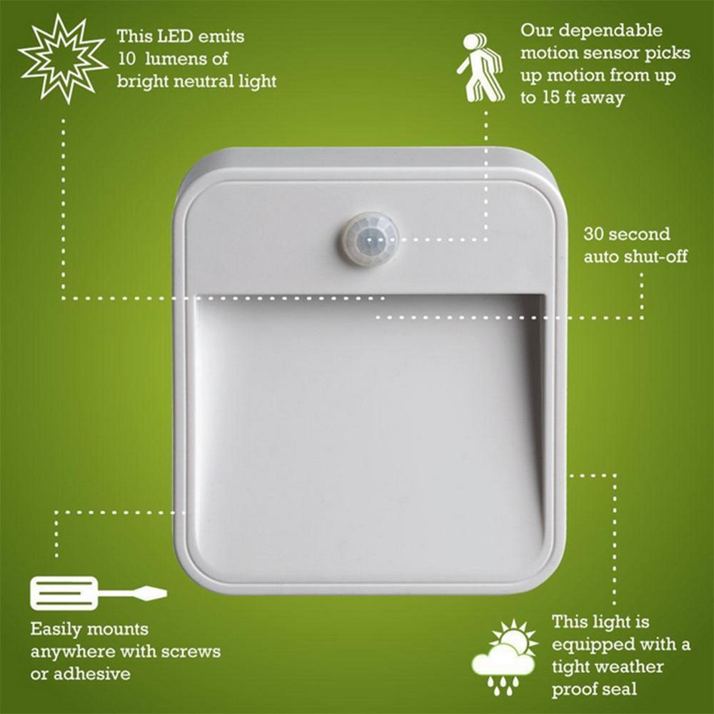 Night light with motion sensor - Aliexpress Com Buy Lights With Motion Sensor Wall Led Night Light Lamp Battery Powered Wireless Wall Lamp Bedside Led 12v Light Night Toilet Light From