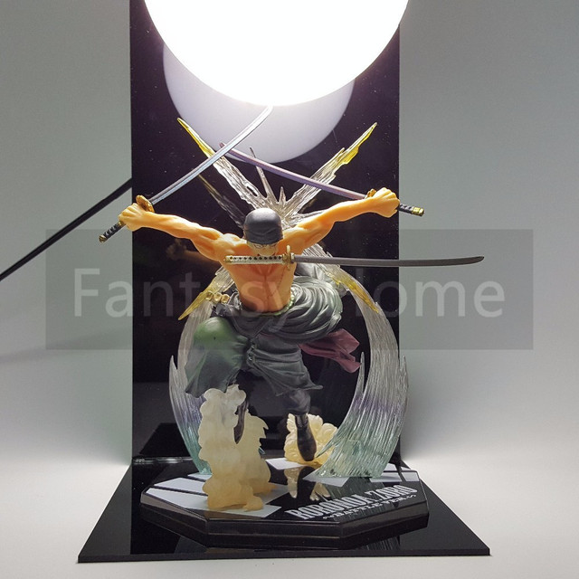 One Piece Action Figure Zoro PVC Figure Ball+Base Toy