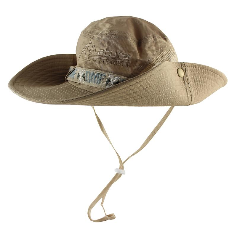 158bfcfe6b14 UPF 50+ Bucket Hat Summer Men Women Boonie Hat Outdoor UV Protection Long  Wide Brim Panama Safari Hunting Hiking Fishing Sun Hat-in Bucket Hats from  Apparel ...