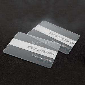 Image 4 - PVC כרטיס ביקור אישית עיצוב 200pcs/500pcs מט פנים/לבן דיו שקוף פלסטיק כרטיס ביקור הדפסה 85.5*54mm
