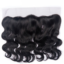 Brazilian Body Wave 13*4 Lace Frontal Closure Non Remy 100% Human Hair Ear To Ear Closure Natural Color Lace Frontal(China)