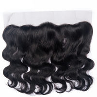 Brazilian Body Wave 13*4 Lace Frontal Closure Non Remy 100% Human Hair Ear To Ear Closure Natural Color Lace Frontal