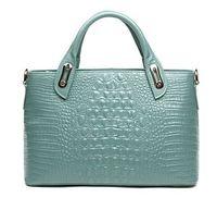 Luxury Alligator Pattern Cow Leather Women S Genuine Leather Handbag Fashion Crocodile Grain Messenger Bag For