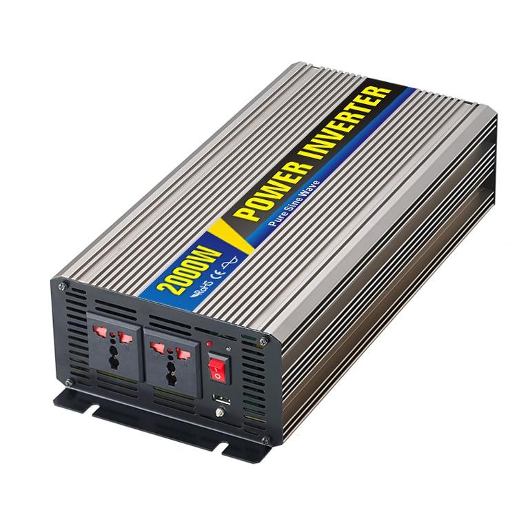 MAYLAR@ 2000W Car Power Inverter Converter DC 12V to AC 110V or 220V Pure Sine Wave Peak 4000W Power Solar inverters