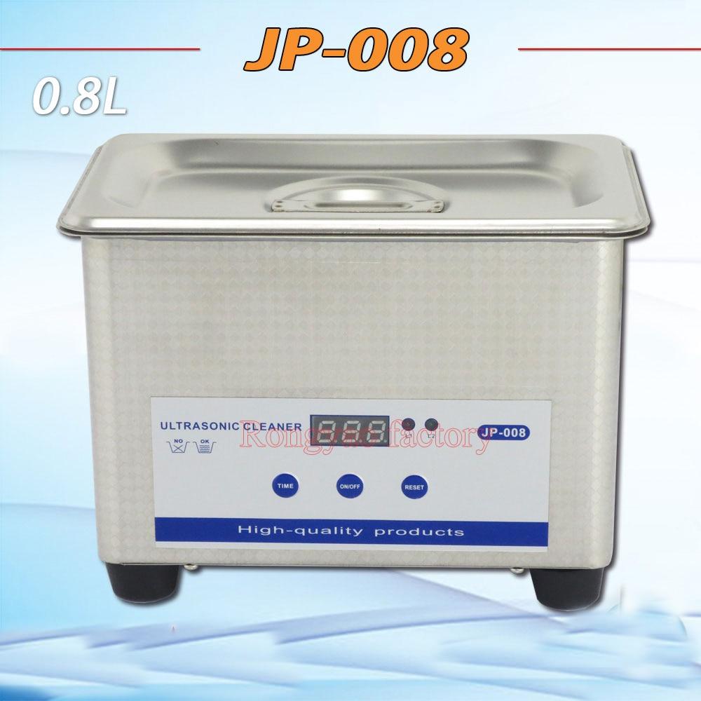 RY JP 008 Stainless steel 0.8L ultrasonic cleaner home mini ultrasonic cleaner Jewellery glass printer head cleaning machine