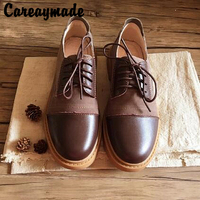 Careaymade 2018 Spring And Autumn RETRO Art Top Layer Genuine Leather Flat Bottom Leisure Shoes Handmade