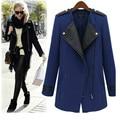 New Mulheres Outono Inverno Trench Coat Feminino Outwear Senhoras Zipper Plus Size Moda Seções Longas Senhoras LQ023