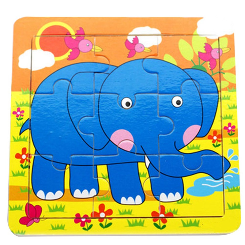 Puzzle Wooden Small Piece Kids Toy Cute Cartoon Baby 3D
