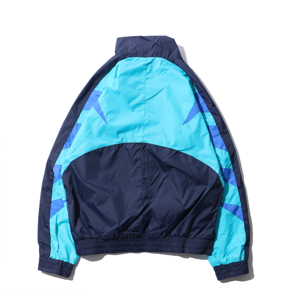 Vintage Color Block Patchwork Embroidery Full zipper Up Windbreaker Jackets 2018 Spring Autumn Hip Hop Casual Track Coats
