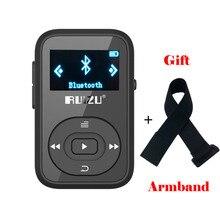 Clip Original Wireless Bluetooth reproductor de MP3 8 GB Deporte reproductor de Música Mp3 reproductor de Radio FM Grabador de 1.1 pulgadas Apoyo Tarjeta SD RUIZU X26