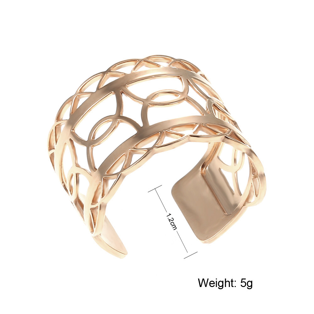 Cremo 2019 New Open Rings For Women Creative Fashion Jewelry Stainless Steel Cuff Interchangeable Leather Bague French Femme in Rings from Jewelry Accessories