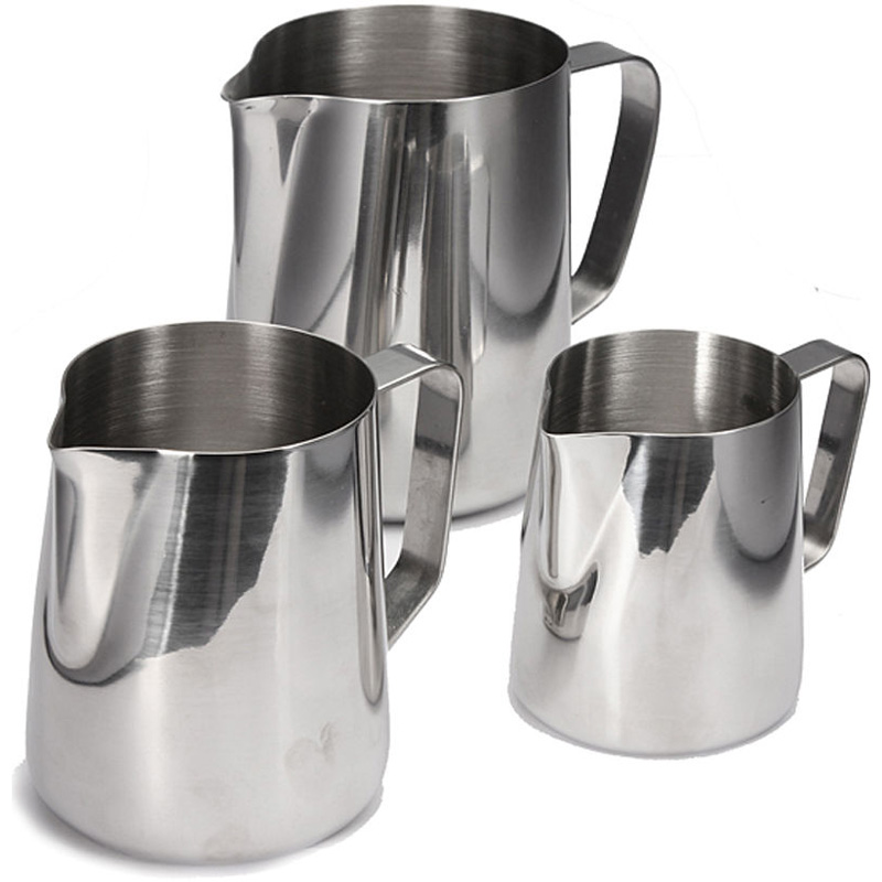 Stainless Steel Craft Coffee Milk Latte Jug Frothing Espresso Pitcher For Kitchen Coffeeware Tools 350/600/1000ML